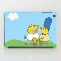 simpson iPad Cases featuring The Peppa Simpson Family by Carlos Paboudjian