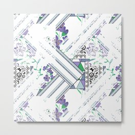Delicate floral and geometric abstraction Metal Print