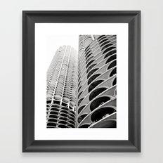 Chicago's Marina City Framed Art Print