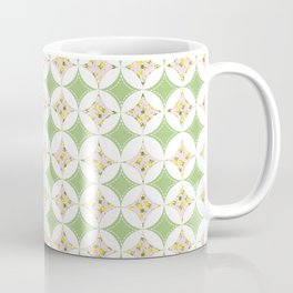 Lemon Windows - Pink & Green on White  Coffee Mug