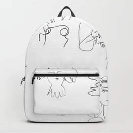 Collage Picasso Sketches Backpack