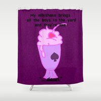 asexual Shower Curtains featuring Asexual Milkshake by Satyrbug