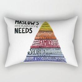 Maslow's Hierarchy of Needs I Rectangular Pillow