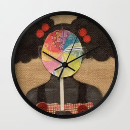 Candy Girl Wall Clock