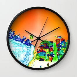 bright glittering sands and UFO Wall Clock