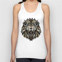 lion Tank Tops featuring Lion by Andreas Preis