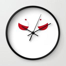 I Have Got The Bobbers Funny Women's T-shirt Fishing T-shirt Wall Clock