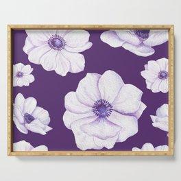 Anemones 2 Purple #society6 #buyart Serving Tray