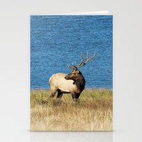 elk Stationery Cards featuring Elk by Becca Buecher