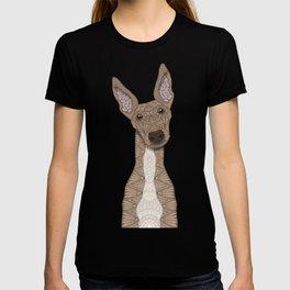 Cute Fawn & White Greyhound T-shirt