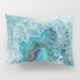 Blue Aqua Agate Pillow Sham