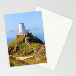 Steps up to lighthouse on Llanddwyn Island, Anglesey, Wales Stationery Cards