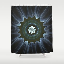 Blossom Within in White Shower Curtain