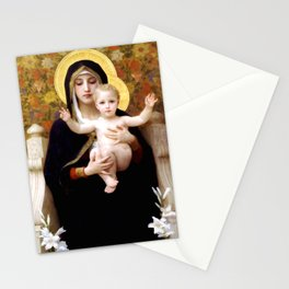 "William-Adolphe Bouguereau ""The Madonna of the Lilies"" Stationery Cards"