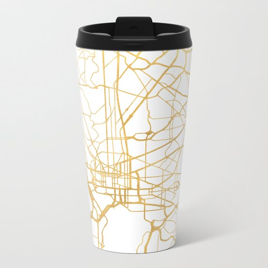 WASHINGTON D.C. DISTRICT OF COLUMBIA CITY STREET MAP ART Metal Travel Mug