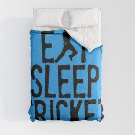 Eat Sleep Cricket Comforters
