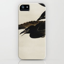 Two Crows - Shibata Zeshin (1807-1891) - Japanese scroll painting iPhone Case