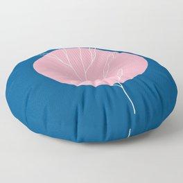 Abstract Pink Moon Floor Pillow