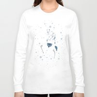 reindeer Long Sleeve T-shirts featuring reindeer by Anita Molnár Anita