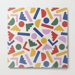 Colorful Geometric Shapes Metal Print
