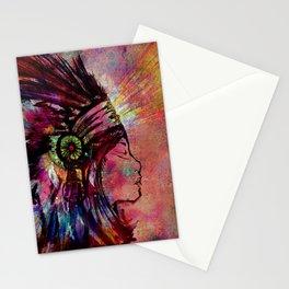 Native American Medicine Woman Spiritual Shaman Stationery Cards
