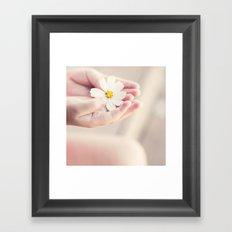 Flower in my hand. Framed Art Print