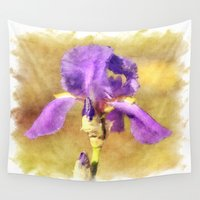 lily Wall Tapestries featuring Lily by Susann Mielke