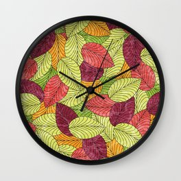 Let the Leaves Fall #11 Wall Clock