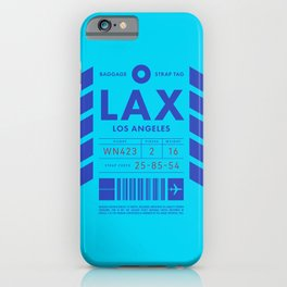 Baggage Tag D - LAX Los Angeles USA iPhone Case