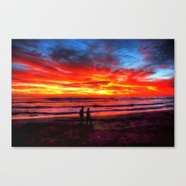 Flaming Sky * Costa Rica Canvas Print