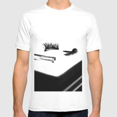 Don't Drag SMALL White Mens Fitted Tee