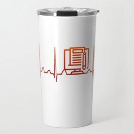 Blogging Heartbeat Travel Mug