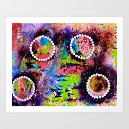 Moon Rhythm tetkaART Art Print
