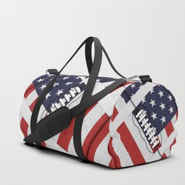 4th of July American Football Fanatic Duffle Bag