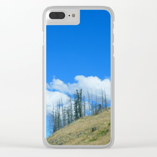 At The End Of The World Clear iPhone Case