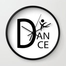 White Dance Symbol Wall Clock