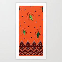 Dancing Cactus Art Print