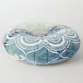 Mandala : Teal Sea Sunset Floor Pillow