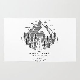 The mountains are calling and I must go- Nordic Rug