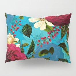 Mystical Blue Rose Garden Pillow Sham
