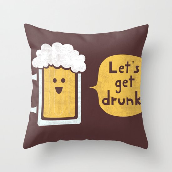 Drinking Buddy Throw Pillow