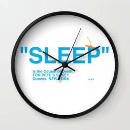 """""""SLEEP"""" Wall Clock"""