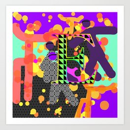 MONOGRAM INITIAL E Art Print