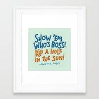 dwight schrute Framed Art Prints featuring Dwight K. Schrute by Josh LaFayette