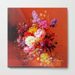 Passion Fruits and Flowers Metal Print