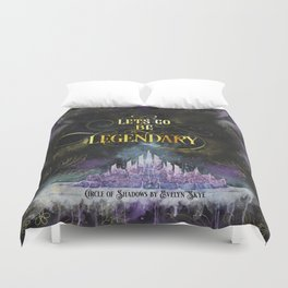 Circle of Shadows - Legendary Duvet Cover