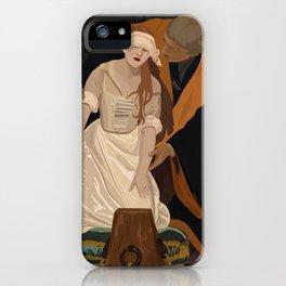 Lady Jane Grey illustration iPhone Case
