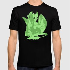 Shadow Dragon Black LARGE Mens Fitted Tee