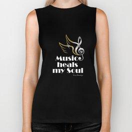 Music heals my soul Biker Tank