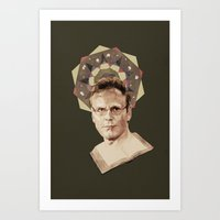 ben giles Art Prints featuring Giles by mycolour